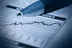 Finanzdiagramm Stockfotos