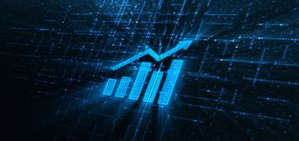 Finanzdiagramm-Börse-Diagramm-Investitions-Konzept stockbilder