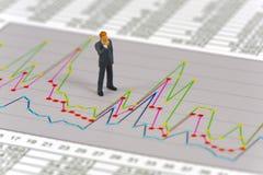 Finanzdiagramm und -banker Lizenzfreie Stockfotos