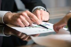 Finanzdiagrammanalyse Lizenzfreie Stockbilder