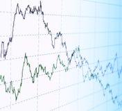 Finanzdiagrammauszug Stockfoto