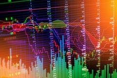 Finanzdiagrammdiagrammhintergrund Lizenzfreie Stockbilder