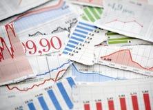 Finanzdiagramme lizenzfreie stockfotos