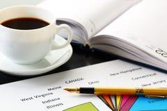 Finanzdiagramme und Diagramme lizenzfreies stockbild