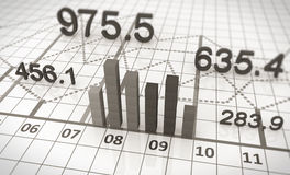 Finanzdiagramme und Diagramme Stockfotos