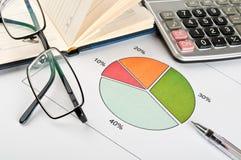 Finanzdiagramme und Diagramme stockfotografie