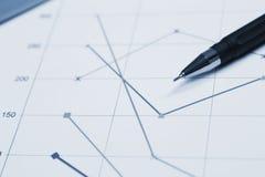 Finanzdiagrammmakrofoto Lizenzfreies Stockbild