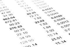 Finanzdokumente Stockfotos