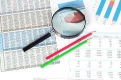 Finanzdokumente Lizenzfreie Stockfotografie