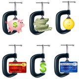 Finanzdruck-Laster Lizenzfreies Stockfoto