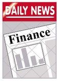 Finanze dei giornali Fotografia Stock