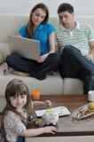 Finanze della famiglia Fotografie Stock Libere da Diritti