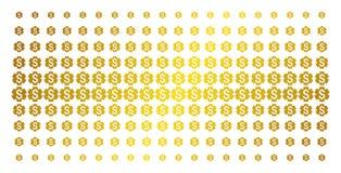 Finanzeinstellungs-Gang-Goldhalbton-Muster Lizenzfreie Stockbilder