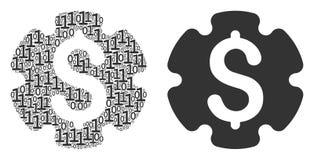 Finanzeinstellungs-Gang-Mosaik von Binärstellen Stockbilder