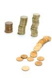 Finanzeinsturz Lizenzfreie Stockbilder