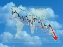 Finanzeinsturz Stockbilder