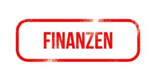 Finanzen - red grunge rubber, stamp.  Stock Photos