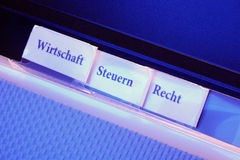 Finanzen: Wirtschaft, Steuern, Recht Fotografía de archivo libre de regalías