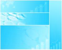 Finanzfahnen, Hintergründe Stockfoto