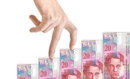 Finanzgeld-Diagramm Stockbilder
