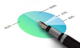 Finanzgeschäfts-Stift Stockbild