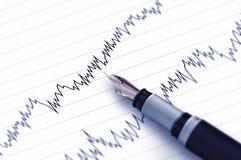Finanzgeschäfts-Stift Lizenzfreie Stockfotografie