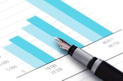 Finanzgeschäfts-Stift Stockbilder