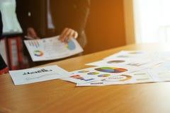 Finanzgeschäftskonferenz und Arbeitseinheit Teamwork ist gut lizenzfreie stockfotografie