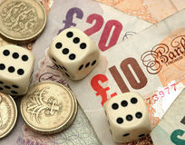 Finanzglücksspiel Stockbild
