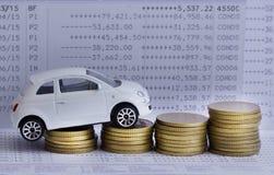 Finanzi i soldi di concetto, il grafico, la moneta, banconota, Fotografie Stock