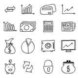 Finanzi le icone Fotografie Stock Libere da Diritti