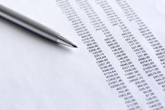 Finanziario analizzi Fotografia Stock Libera da Diritti