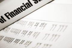 Finanziell Stockfoto