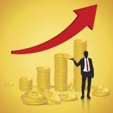 Finanziell erfolgreich vektor abbildung