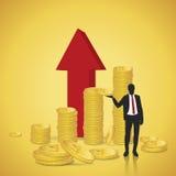 Finanziell erfolgreich lizenzfreie abbildung