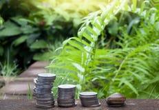 Finanziell vom Geld und von der Schnecke lizenzfreies stockfoto