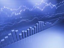 Finanziellauf lagerbalkendiagramm Stockbilder
