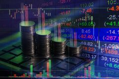 Finanziellbörseaustausch, Geschäftsbericht-Konzept backgro Lizenzfreies Stockbild
