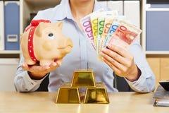 Finanzielle Sicherheit durch Verschiedenartigkeit stockfoto