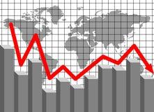 Finanzieller Verlust Lizenzfreies Stockfoto