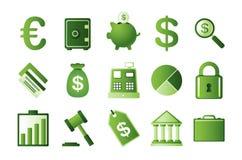 Finanzieren Sie Ikonen Lizenzfreies Stockfoto