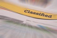 Finanzierung der Jobliste-eingestuften Anzeige Lizenzfreies Stockbild
