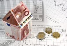 Finanzierung des Hausbaus Lizenzfreie Stockfotografie