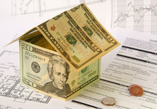 Finanzierung des Hausbaus Lizenzfreie Stockbilder