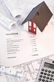 Finanzierung eines Eigentums Lizenzfreies Stockbild