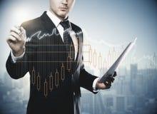Finanzierung, Erfolg, Handel und Einkommenskonzept lizenzfreie stockbilder