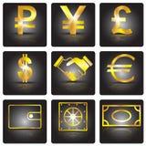 finanzierung Goldenes Zeichen Stockbild