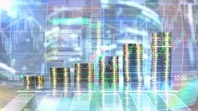 Finanzierung und abstraktes infographics lizenzfreie abbildung