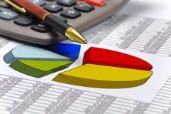 Finanzierung und Berechnung an der Börse Lizenzfreies Stockbild