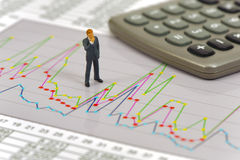 Finanzierung und Budgetberechnung Lizenzfreies Stockbild